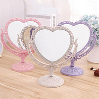 Desktop Double-Sided Mirror European Retro Carved Plastic Frame Beauty Mirror Student Dormitory Portable Love Makeup Mirror