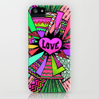 Power of Love (color version 3) iPhone & iPod Case by Lisa Argyropoulos