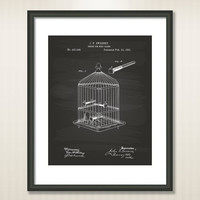 Perch For Bird Cages 1891 Patent Art Illustration - Drawing - Printable INSTANT DOWNLOAD - Get 5 Colors Background