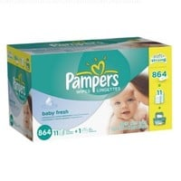 Pampers Baby Fresh Wipes Box, 864 Count