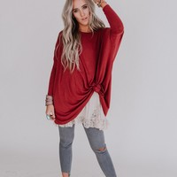 Susana Dolman Top - Brick