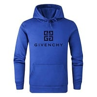 Givenchy Hot Sale Women Men Hoodie Cute Sweater Blue