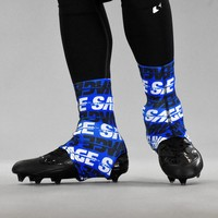 Savage Blue Spats / Cleat Covers