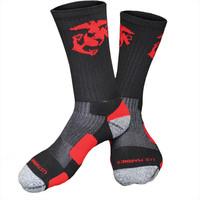 Marines Performance Crew Socks w/ Eagle Globe and Anchor