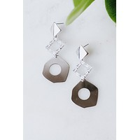 Baguette Diamond Odd Shape Earring