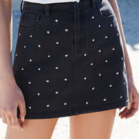 Kendall and Kylie Denim Studded Mini Skirt at PacSun.com