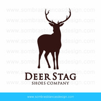 OOAK Premade Logo Design - Deer Stag - Perfect for a brewery or a carved wood accessories shop