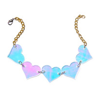 Marina Fini Heart Breaker Choker Holographic One