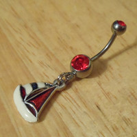 Belly Button Ring  Sailboat Belly button ring by ChelseaJewels