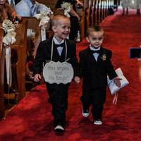 """Hand Painted Wooden Cottage Chic Wedding Sign / Ring Bearer Sign / Funny Ring Bearer Sign, """"Has anyone seen the Rings."""""""