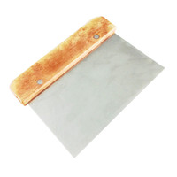 Stainless steel Dough flour powder scraper Pizza Cutter Pastry wooden handle Slicer Cake Bread Blade Tool kitchen accessories