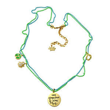 """Kidada for Disney Couture - """"Princess & The Frog"""" Collection Small Round Pendant Necklace"""