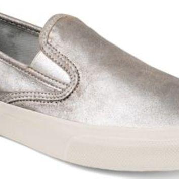 Sperry Top-Sider CVO Slip-On Sneaker by Jeffrey SilverMetallicLeather, Size 7M  Men's Shoes
