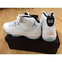 AIR JORDAN 11 white/blue Basketball Shoes 36-47