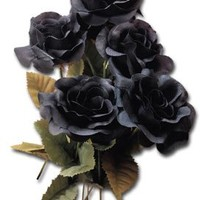 Alchemy Gothic - 6 Black Roses   ***** 6 PACK ***** - Accessories