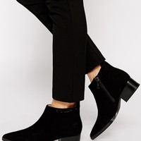 Calvin Klein Banks Suede Ankle Boots at asos.com