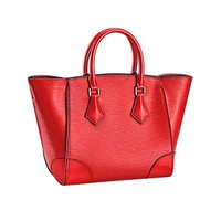 Tagre™ Authentic Louis Vuitton Epi Leather Phenix MM Bag Handbag Coquelicot Article: M50589 Made in Italy
