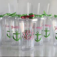 Personalized tumbler for Bridesmaids, Birthday Party, Sweet Sixteen