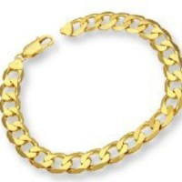 ChainCo 9ct Yellow Gold 20.6g Curb Bracelet of 22cm/8.5 Inch Length and 9mm Width