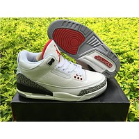 Air Jordan 3 white red  Basketball Shoes 36-47