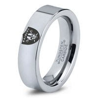 Oakland Raiders Ring Mens Fanatic NFL Sports Football Boys Girls Womens NFL Jewelry Fathers Day Gift Tungsten Carbide 020