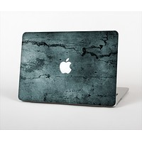 The Dark Blue Cracked Texture Skin Set for the Apple MacBook Pro 13""