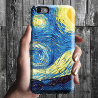 Starry Night - Van Gogh iPhone Case 6, 6S, 6 Plus, 4S, 5S. Mobile Phone Cell. Art Painting. Gift Idea. Anniversary. Gift for him and her