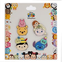 Disney Tsum Tsum Pin Set of 4 Stitch Jiminy Pooh Pin New