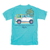 Girls Just Want to have Sun - Jeep - Adult T-Shirt