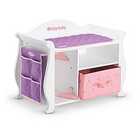 American Girl® Accessories: Wooden Changing Table & Storage