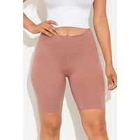 Going All Out Biker Short Mauve
