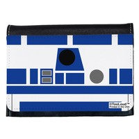 Blue and White Robot AOP Ladies Wallet All Over Print