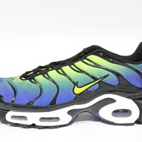 Nike Men's Air Max Plus Blue/Cyber Black Runing Shoes 604133 430