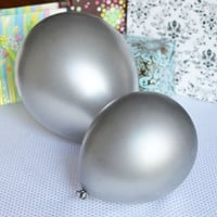 Latex Balloons Party Supplies, 12-inch, 12-piece, Silver