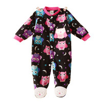 New Baby clothes baby boy girls footed romper cartoon baby rompers long sleeve100%cotton sleep&play clothes baby pajamas newborn