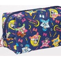 Sailor Moon Lifestyle Goods Pretty Guardian Denim Pouch - Blue - Sailor Moon Accessories