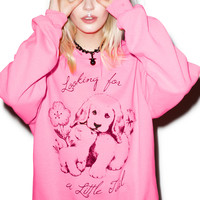 Burger And Friends Looking For Tail Sweatshirt Pink