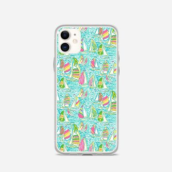 Lilly Pulitzer Sailboat iPhone 11 Case