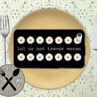 Lol Ur Not Trevor Moran Quote Daisy Pattern Custom Rubber Tough Phone Case For The iPhone 4 and 4s and iPhone 5 and 5s and 5c