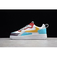 Travis Scott X Nike Air Force 1 Af1 White/ Blue/ Yellow Low Sneakers KAAT
