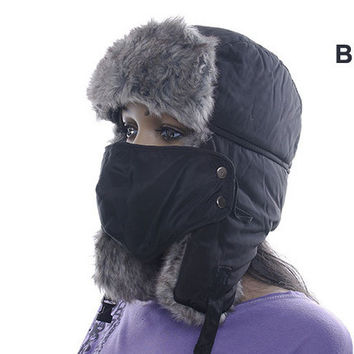 JOYMAY High Quality winter Warm Proof Trapper Hat Women aviator hat Solid color hat boutdoor ear flaps bomber caps W061