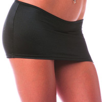 Pole Dancing Scrunch Back Mini Skirt