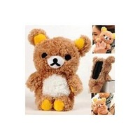 Authentic iPlush Plush Toy Cell Phone Case for iPhone 4 / 4S - Company Direct Sell 100 Percent Authentic (Brown Bear)