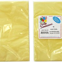 yellow guest towels/napkins 16-packs Case of 36