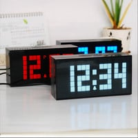 LED Digital Wall Clock Table Desk Alarm Thermometer Date Timer Countdown Snooze