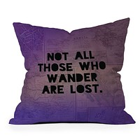 Leah Flores Those Who Wander Throw Pillow