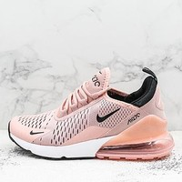 Nike Air Max 270 Coral Stardust Black-summit White Running Shoes - Best Deal Online