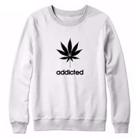 Weed Addicted Pullover Sweatshirt