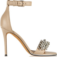 Givenchy - Monia leather sandals with crystals