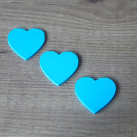 Country kitchen magnets (Set of 3)  Wooden heart fridge magnets.